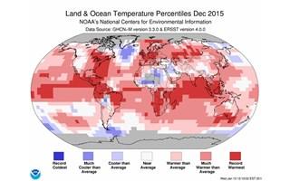 2015, l'année la plus chaude jamais mesurée