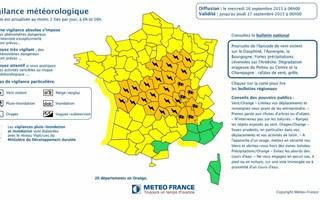 26 départements en vigilance orange pour des orages violents