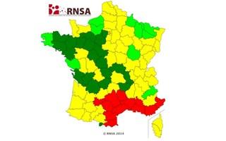 Carte allergie au pollen 20 mars 2014