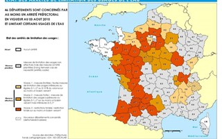 Carte restrictions d'eau août 2010