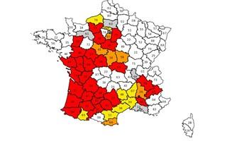 Carte sécheresse France 28 août 2012