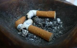 Cigarettes écrasées dans un cendrier