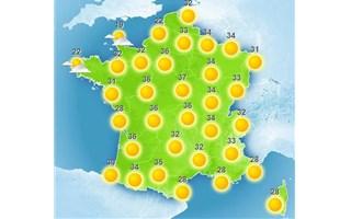 Climat : été sec, chaud, ensoleillé avec des températures supérieures à la normale