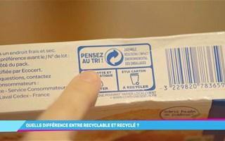 Quelle différence entre un produit recyclable et un produit recyclé ?