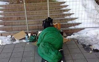 Sans-domicile-fixe pendant l'hiver