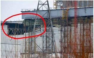 Effondrement mur et toit Tchernobyl