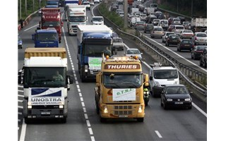 Embouteillage camion