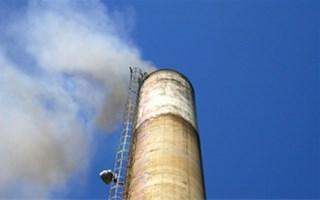 Emissions de gaz à effet de serre d'une cheminée