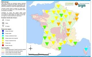 L'ensemble du niveau des nappes phréatiques en France est bas