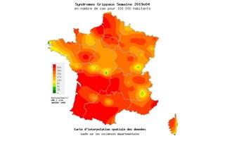 L'épidémie de grippe touche tous les départements français