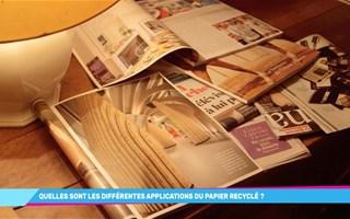 Que fabrique-t-on avec du papier recyclé ?