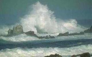 Fortes vagues pendant une tempête