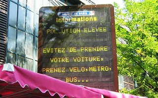 Information pollution de l'air Paris