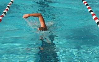 Nageurs dans piscine