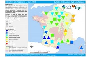 Nappes d'eau souterraines : une situation satisfaisante, sauf en Alsace, Bourgogne, est du Massif Central et Rhône
