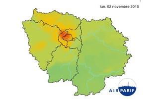Pic de pollution aux particules fines en Île-de-France