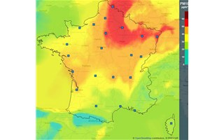 Pics de pollution de l'air aux particules fines sur la moitié nord de l'hexagone
