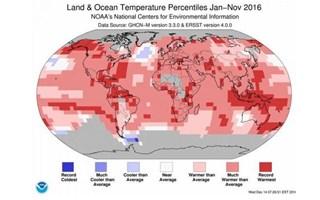 Réchauffement climatique : 2016 sera l'année la plus chaude jamais enregistrée