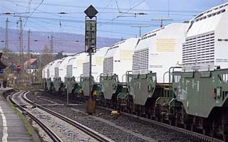 Train transport déchets radioactifs