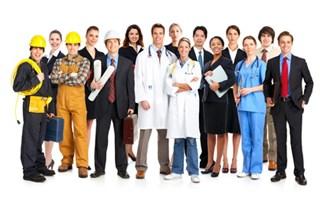 Travailleurs issus de corps de métiers différents