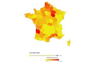 Le Vaucluse, la Réunion, la Martinique, la Gironde et l'Aube champions de l'achat de pesticides