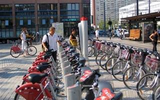 Vélo'v à la gare Lyon Part dieu