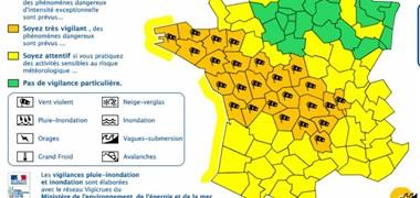 Vents violents : 27 départements en vigilance orange