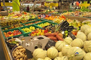 Rayon fruits supermarché