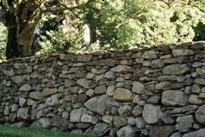 Je crée un mur en pierres sèches dans mon jardin