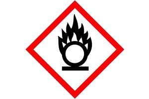 Étiquette produit comburant