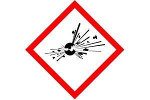 Étiquette produit explosif