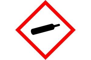 Étiquette produit gaz sous pression