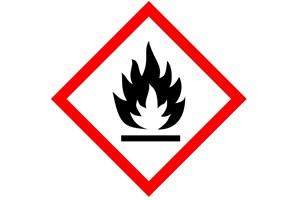 Etiquette produit inflammable