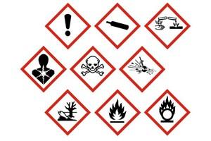 Symboles danger produits bricolage construction entretien