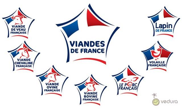 7 logos Viandes de France