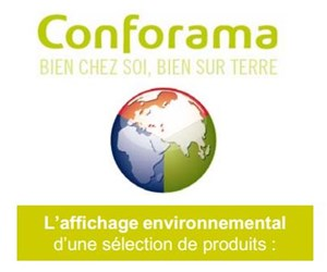 Affichage environnemental Conforama